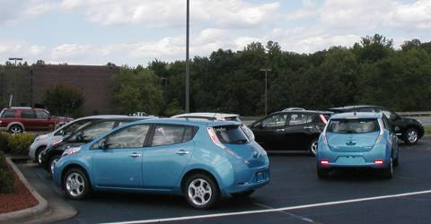 Seven All Electric Cars at the Dealership in Salisbury