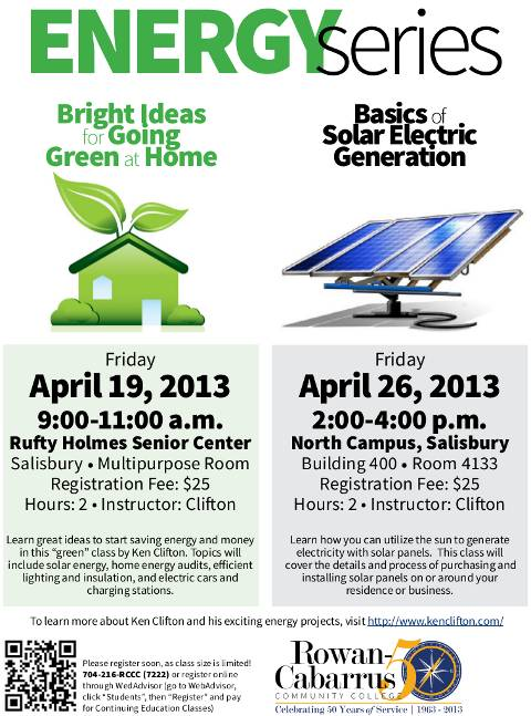 Spring 2013 Energy Series Class